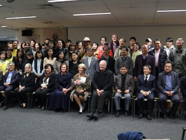 Peace Together film event group photo